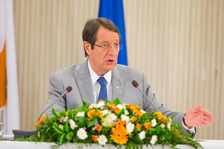 President Anastasiades highlights need for a Cyprus solution to bring peace and stability