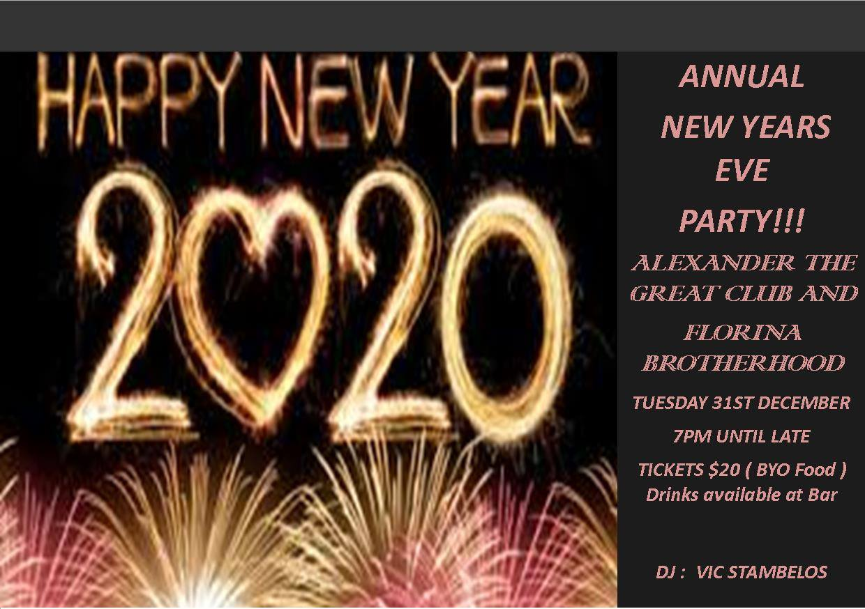 Annual New Years Eve Party